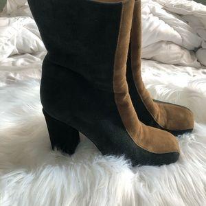 Marni suede multicolor boots.